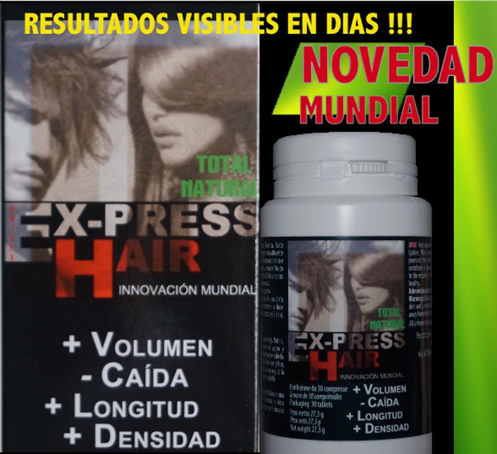 EX-PRESS HAIR TRATAMIENTO ANTICAÍDA Y CRECIMIENTO CAPILAR 2 MES *60 Cápsulas*