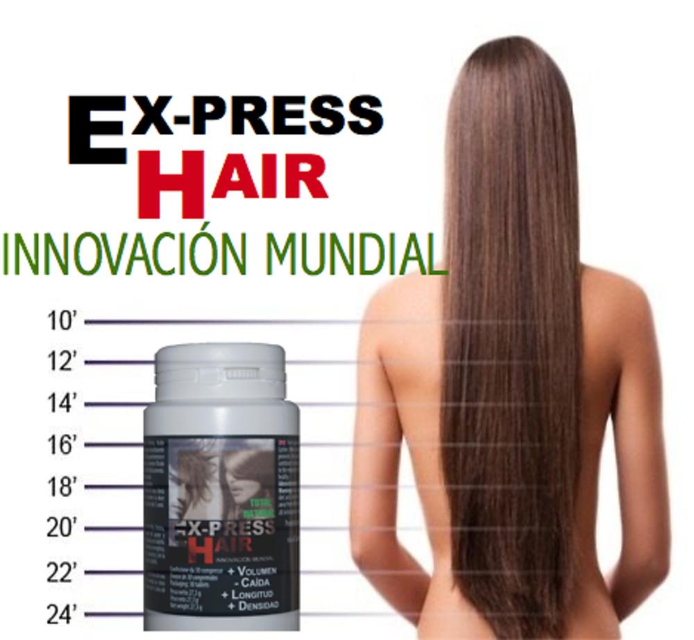 EX-PRESS HAIR TRATAMIENTO ANTICAÍDA Y CRECIMIENTO CAPILAR 3 MES *90 Cápsulas* ENVIO GRATIS A TODOS LOS PAISES!!!